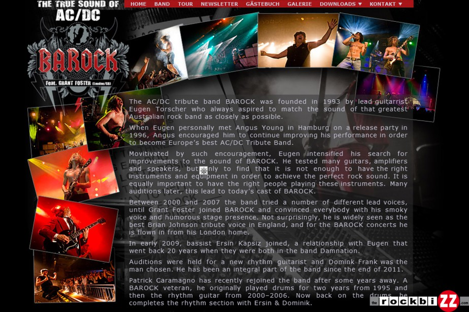 Bandwebseite www.barock-acdc.com